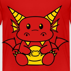 Red Chibi Dragon Toddler Shirts - Toddler Premium T-Shirt