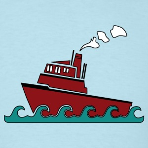 Sky blue Tug boat T-Shirts - Men's T-Shirt