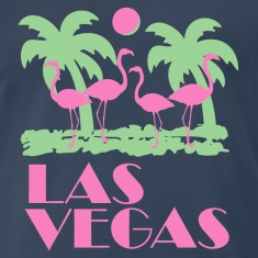 Navy Retro Las Vegas T-Shirts
