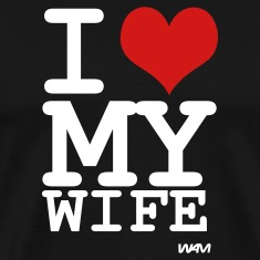 i love my wife by wam T-shirts (manches courtes)