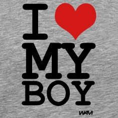 i love my boy by wam T-shirts (manches courtes)
