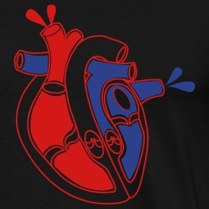 Black The real bleeding  love heart T-Shirts - Men's Premium T-Shirt