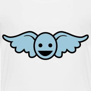 White Funny blue angel smiley face Toddler Shirts - Toddler Premium T-Shirt