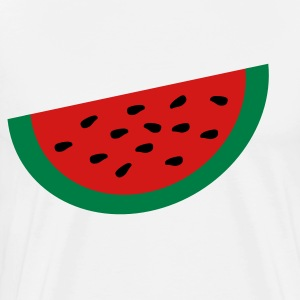 White Large Watermelon Slice T-Shirts - Men's Premium T-Shirt