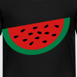 Black Large Watermelon Slice Toddler Shirts - Toddler Premium T-Shirt