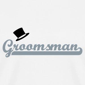 White Groomsman T-Shirts - Men's Premium T-Shirt