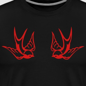 Black Tattoo birds T-Shirts - Men's Premium T-Shirt
