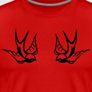 Red Tattoo birds T-Shirts - Men's Premium T-Shirt