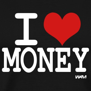 Black i love money by wam T-Shirts - Men's Premium T-Shirt
