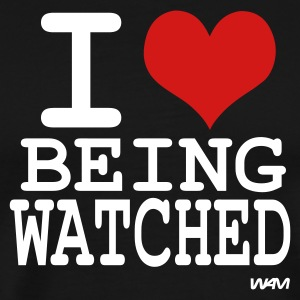 Black i love being watched by wam T-Shirts - Men's Premium T-Shirt