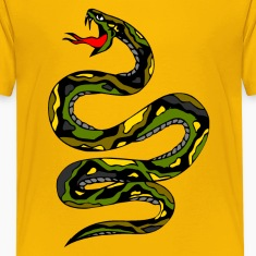 Yellow snake Kids' Shirts