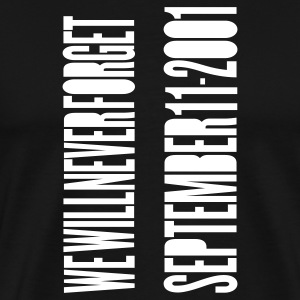 Black TWIN TOWERS - SEPTEMBER 11 ATTACKS T-Shirts - Men's Premium T-Shirt