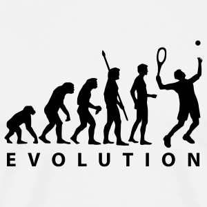 White evolution_tennis_a_1c T-Shirts - Men's Premium T-Shirt