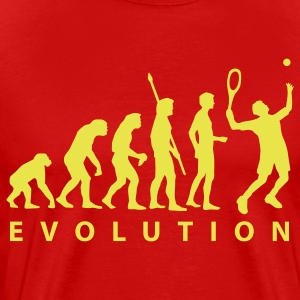 Red evolution_tennis_a_1c T-Shirts - Men's Premium T-Shirt