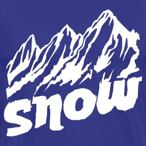 Mountains Snow - Men's Premium T-Shirt