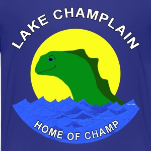 Champ the friendly lake creature. - Kids' Premium T-Shirt