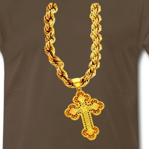 Huge Gold Cross - Men's Premium T-Shirt
