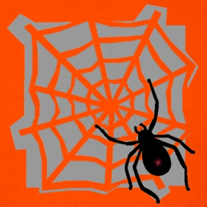 Orange Spider web T-Shirts - Men's T-Shirt