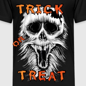 Trick Or Treat Skull - Toddler Premium T-Shirt