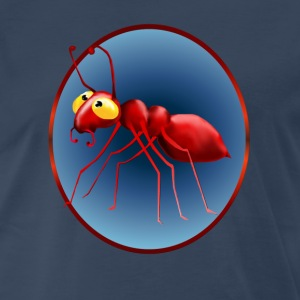 Red Ant In A Circle - Men's Premium T-Shirt