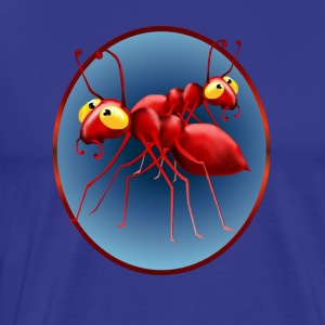 Two Red Ants in a Circle - Men's Premium T-Shirt