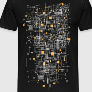 Black squares sqared designer graphic T-Shirts - Men's Premium T-Shirt