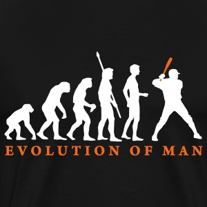 Black evolution_baseball_b_2c T-Shirts - Men's Premium T-Shirt