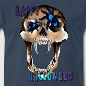 Skull N Spider Halloween - Men's Premium T-Shirt