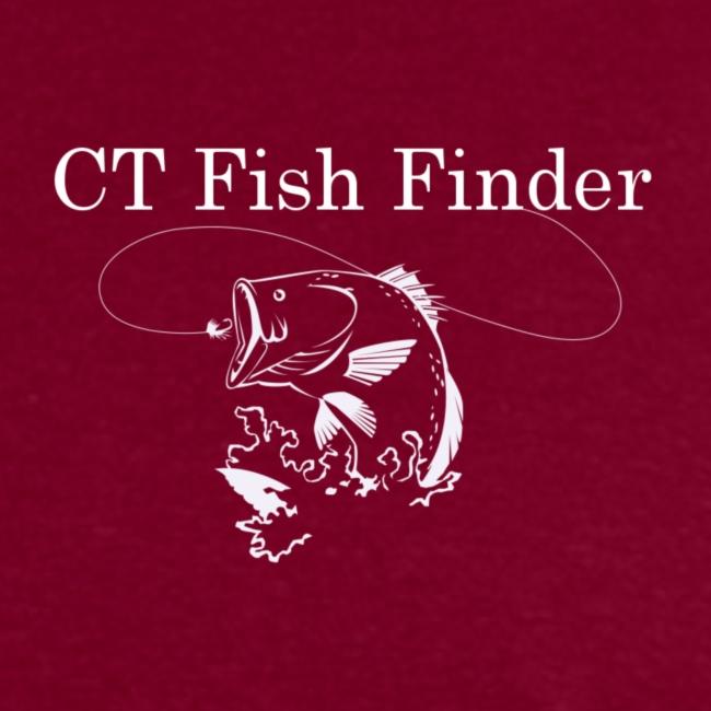 CT Fish Finder T-Shirt (Burgundy)