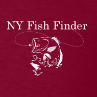 Design ~ NY Fish Finder T-Shirt (Burgundy)