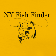 Design ~ NY Fish Finder T-Shirt (Yellow)