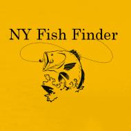Design ~ NY Fish Finder T-Shirt (Yellow)