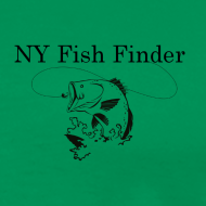 Design ~ NY Fish Finder T-Shirt (Sage)