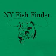Design ~ NY Fish Finder T-Shirt (Sage)