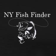 Design ~ NY Fish Finder T-Shirt (Black)
