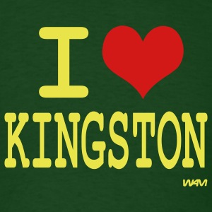 Forest green i love kingston by wam T-Shirts - Men's T-Shirt