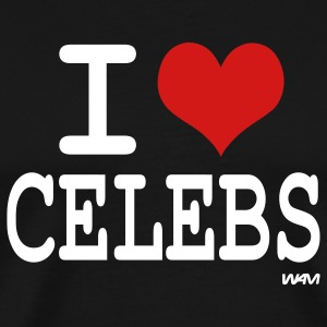 Black i love celebs by wam T-Shirts - Men's Premium T-Shirt