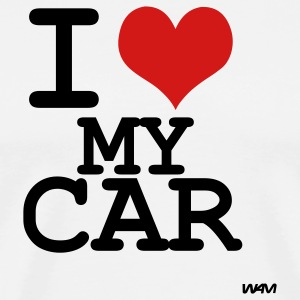 White i love my car by wam T-Shirts - Men's Premium T-Shirt