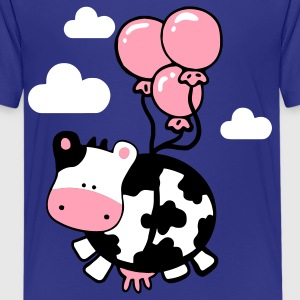Turquoise flying cow Kids' Shirts - Kids' Premium T-Shirt