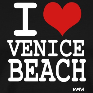 Black i love venice beach by wam T-Shirts - Men's Premium T-Shirt