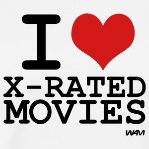 White i love x rated movies by wam T-Shirts - Men's Premium T-Shirt