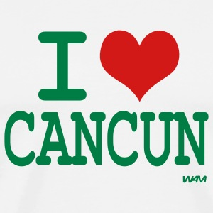 White i love cancun by wam T-Shirts - Men's Premium T-Shirt
