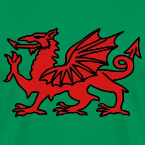 Sage Welsh Dragon T-Shirts - Men's Premium T-Shirt