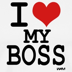 White i love my boss by wam T-Shirts