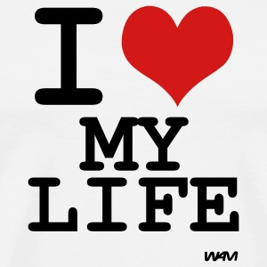 White i love my life by wam T-Shirts - Men's Premium T-Shirt