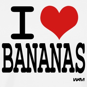 White i love bananas by wam T-Shirts - Men's Premium T-Shirt