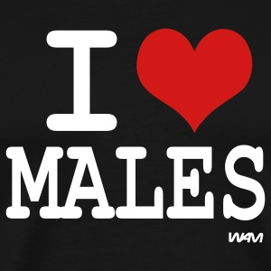 Black i love males by wam T-Shirts - Men's Premium T-Shirt