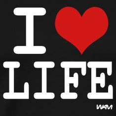 Black i love life by wam T-Shirts