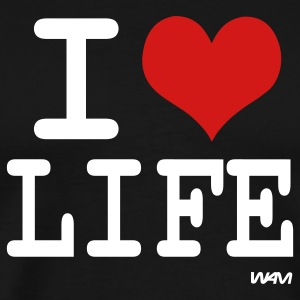 Black i love life by wam T-Shirts - Men's Premium T-Shirt