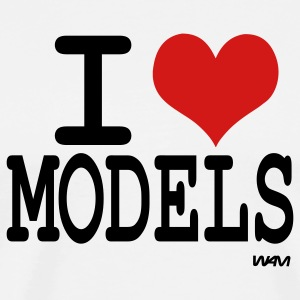 White i love models by wam T-Shirts - Men's Premium T-Shirt